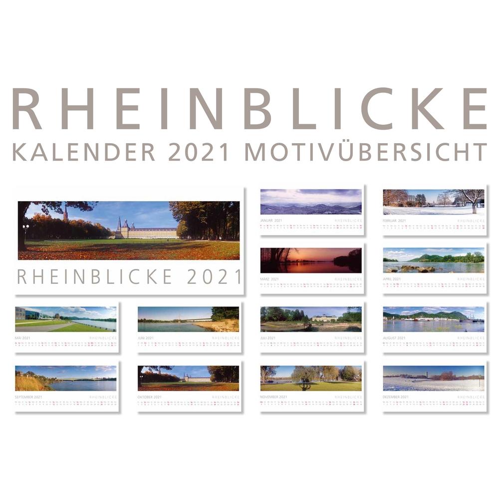 Kalenderblätter des RHEINBLICKE Panorama-Kalenders 2021