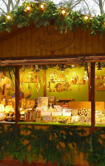 Holzspielzeug-Stand
