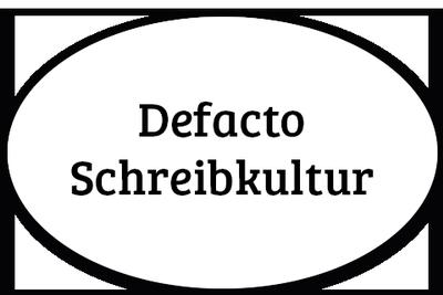 Logo von Defacto Schreibkultur