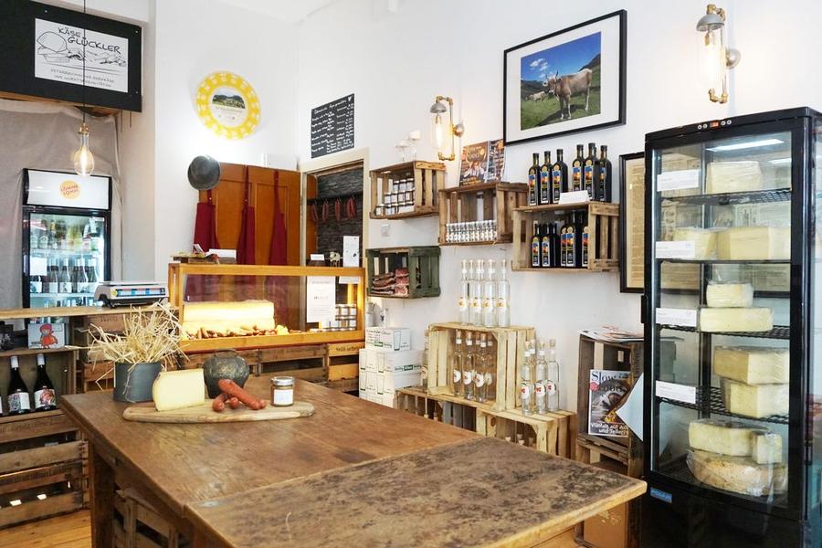 Der Showroom von Käse Glückler