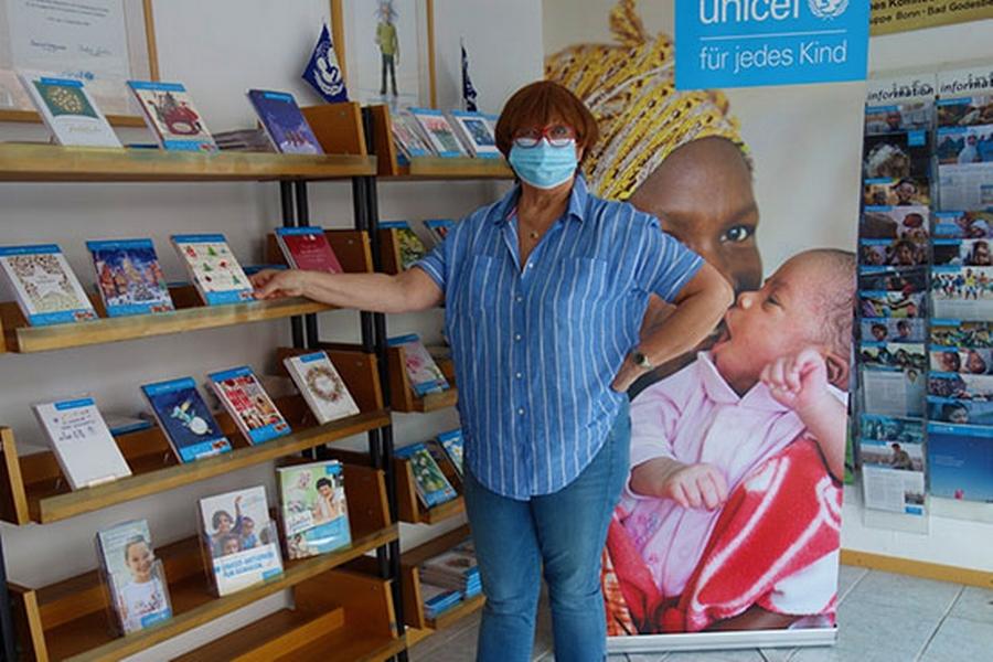 Der Showroom von Grußkarten von UNICEF